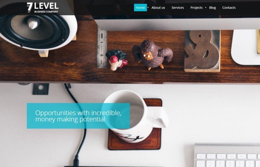 7 Level Website Template