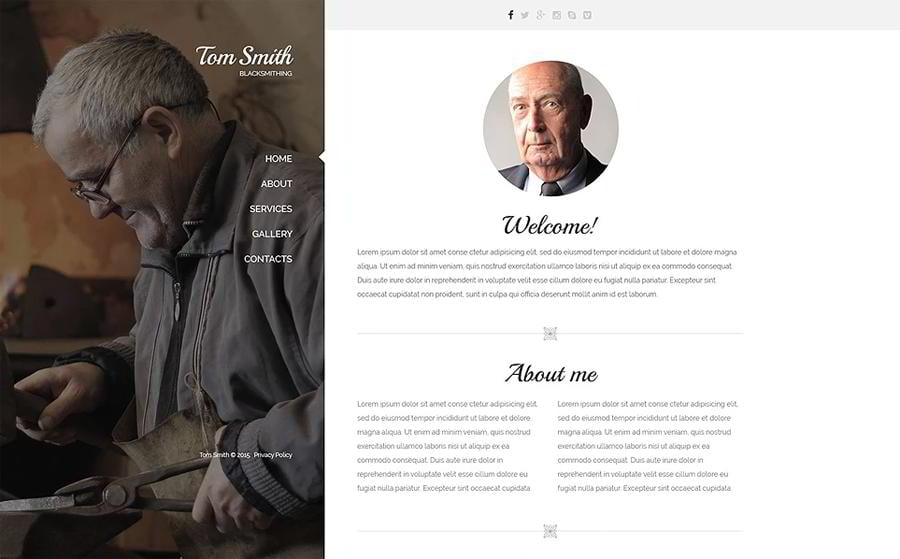 Blacksmith Services Website Template