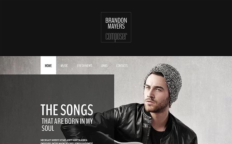Website template for the composer's portfolio