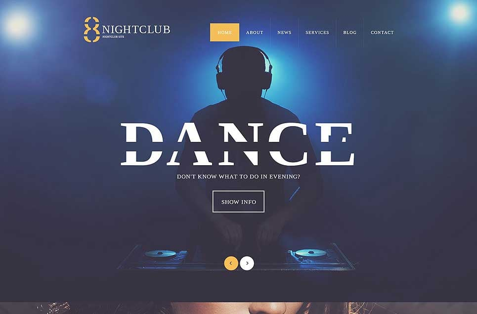nightclub WordPress themes