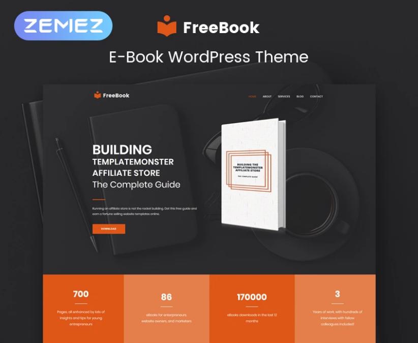 FreeBook - Ebooks Multipurpose Modern Elementor WordPress Theme