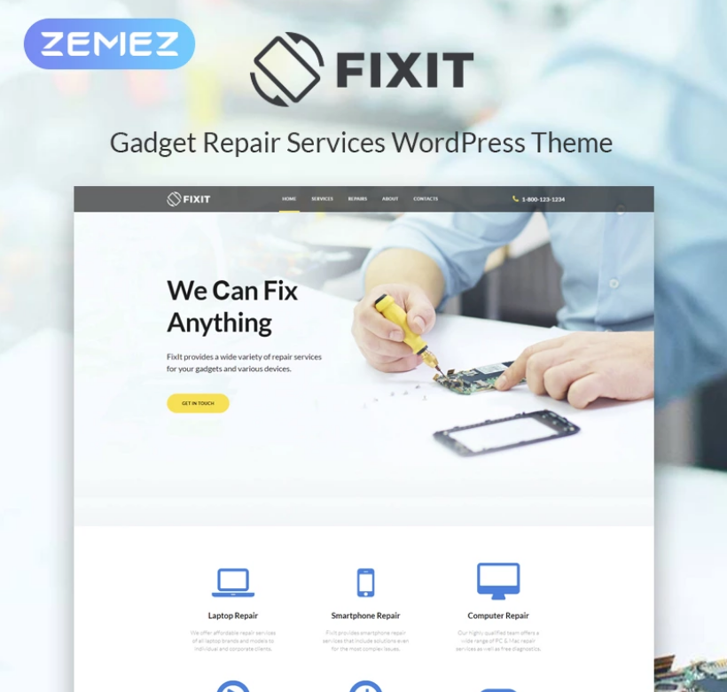Fixit - Gadgets Repair Multipurpose Modern Elementor WordPress Theme