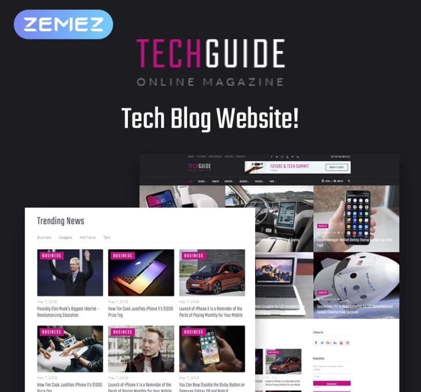 Techguide - Tech Blog Elementor WordPress Theme