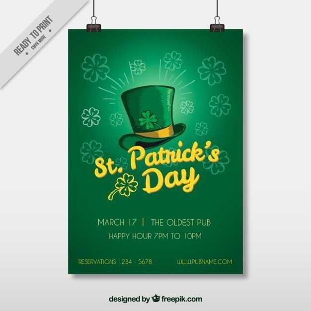 St. Patrick's Day Web Design Freebies