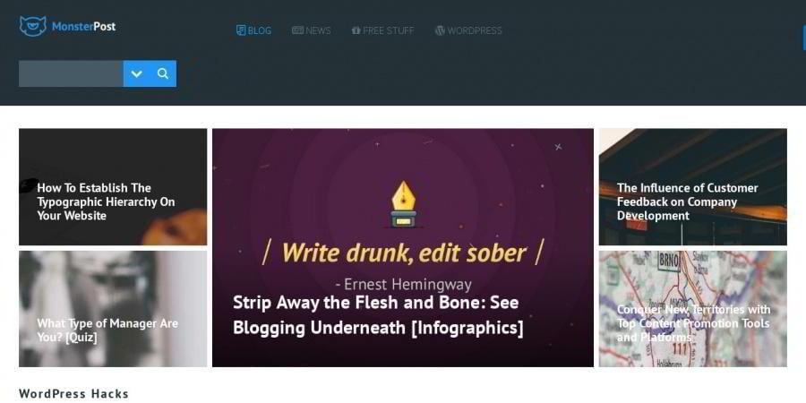 Screenshot made with a WordPress shortcode