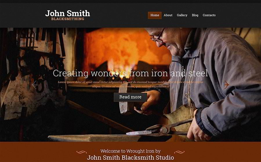 blacksmithing-personal-page-website-template