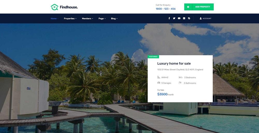 Findhouse - Real Estate WordPress Theme