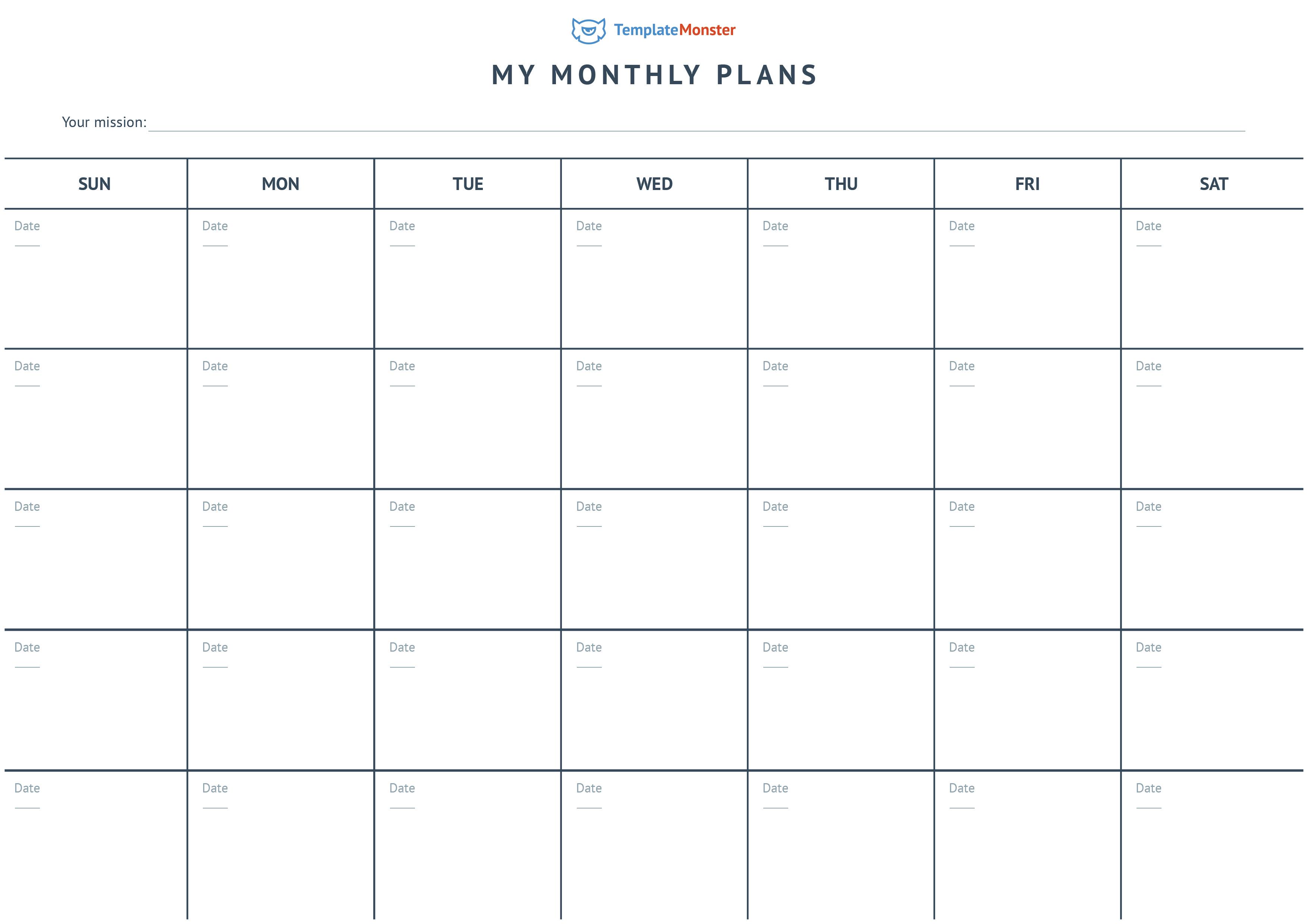month-plans