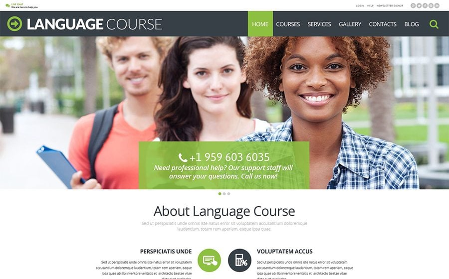 Language Course WordPress Theme