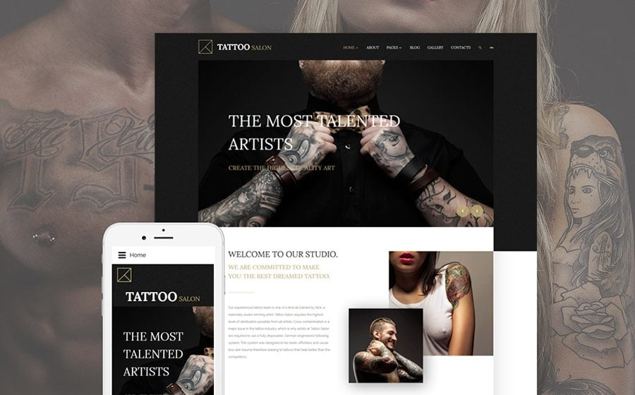 Tattoo Salon Joomla Template