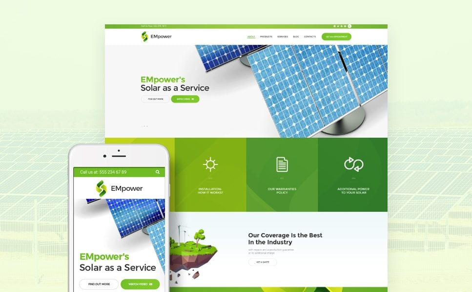 EMpower - Solar & Renewable Energy WordPress Theme