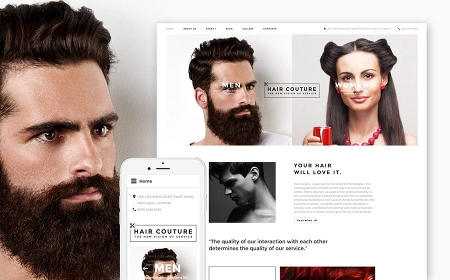 Hair Salon Responsive Joomla Template