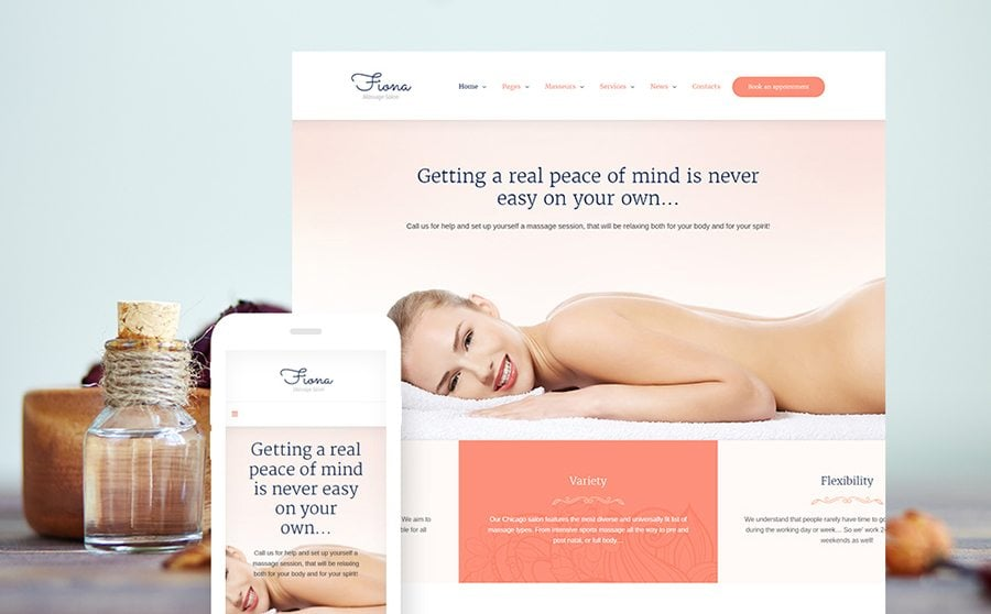 Beauty Spa & Massage Salon Website Responsive WordPress Theme