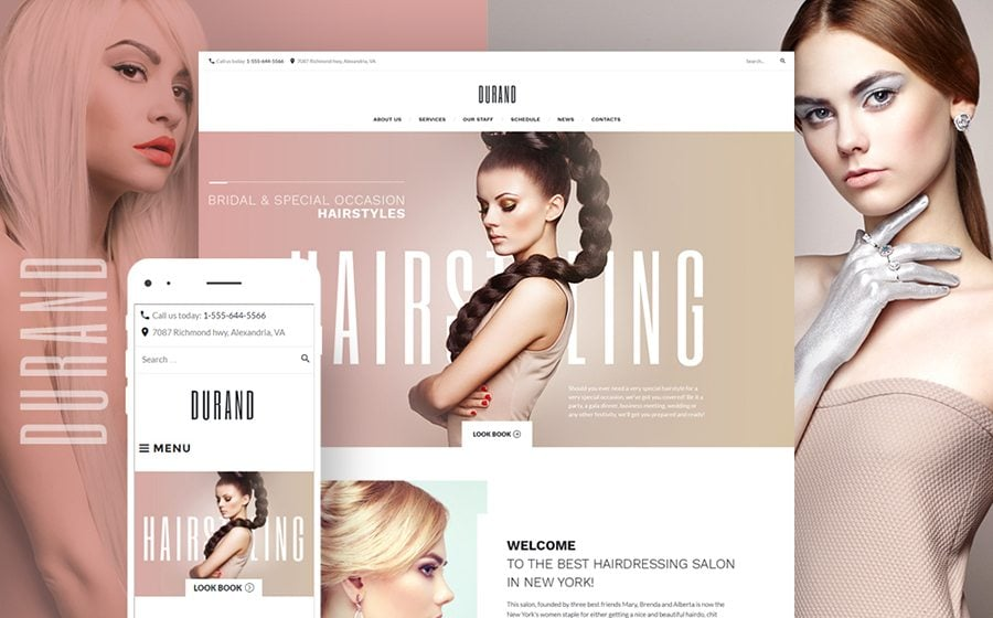 Durand - Beauty & Hair Salon WordPress Theme