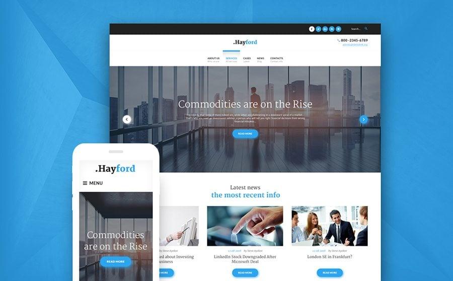 Investment Company Responsive WordPress Theme