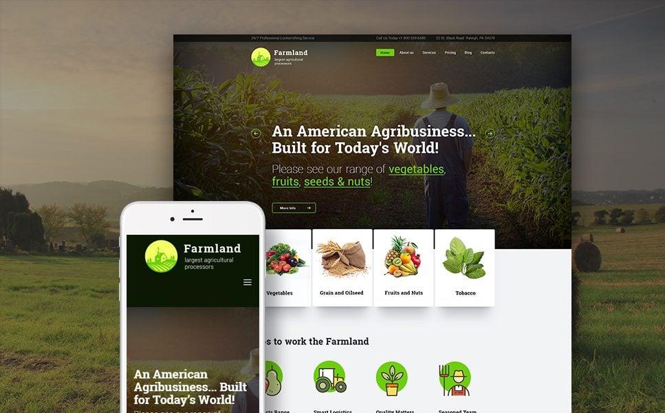 Farmland - Agriculture & Farming WordPress Theme