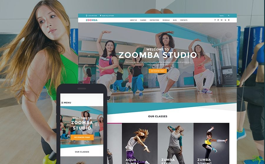 Zoomba - Zoomba Dance Studio WordPress Theme