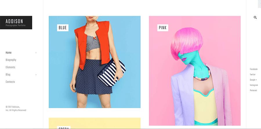 Addison – Creative Photograper WordPress Theme