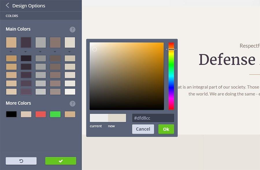 color optional