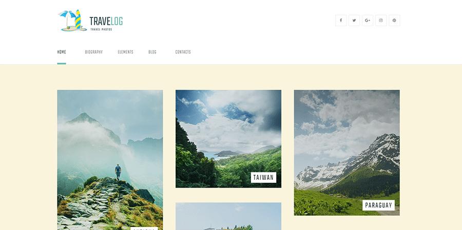 Travel Blog and Photo Gallery WordPress Theme