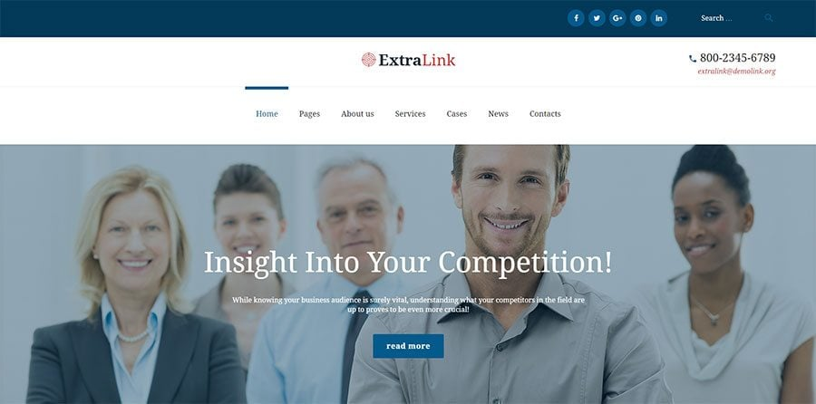 Business Analytics Agency WordPress Theme