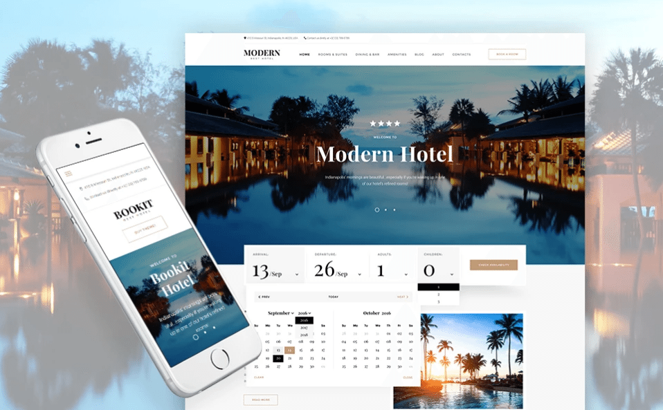 Bookit - Small Hotel WordPress Theme