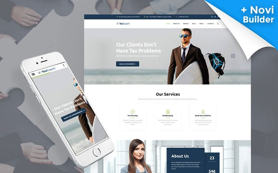 Tax Advisor & Financial Consultant Website Template