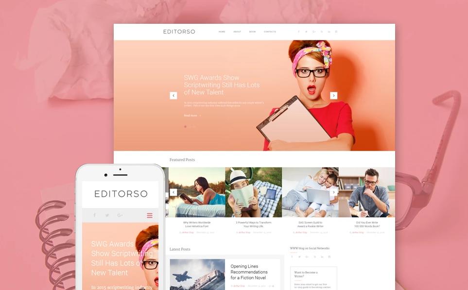 Editorso - Journalist Blog WordPress Theme