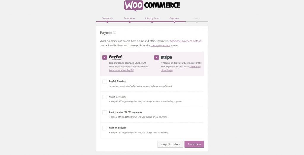 how to create woocommerce store