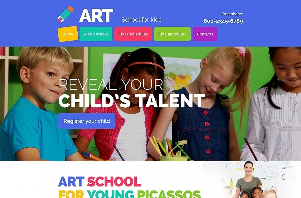 Educational websites - art school