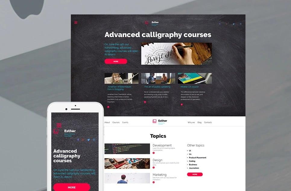 Educational websites - esther