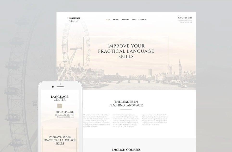 Educational websites - language center