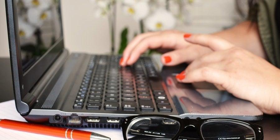 person-woman-desk