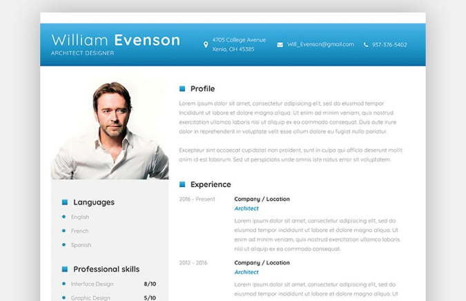 65 Professional CV Templates For MS Word That Look Like Photoshop PSDs