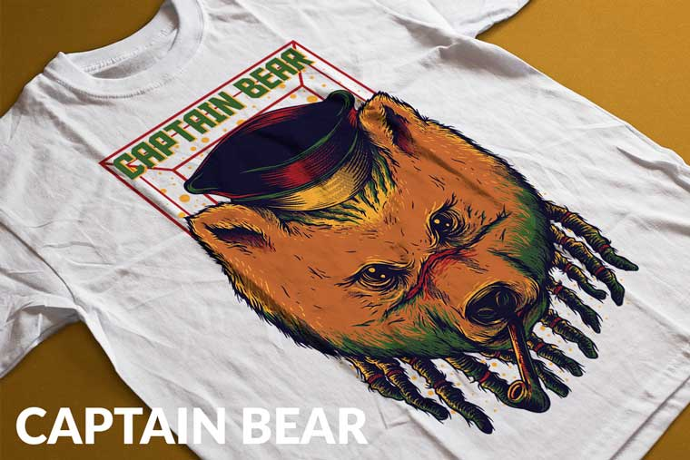 Captain Bear T-shirt.