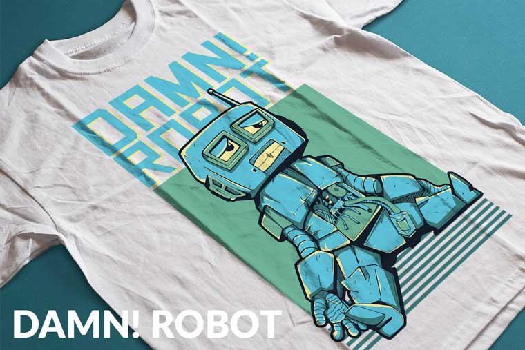 Damn! Robot T-shirt.