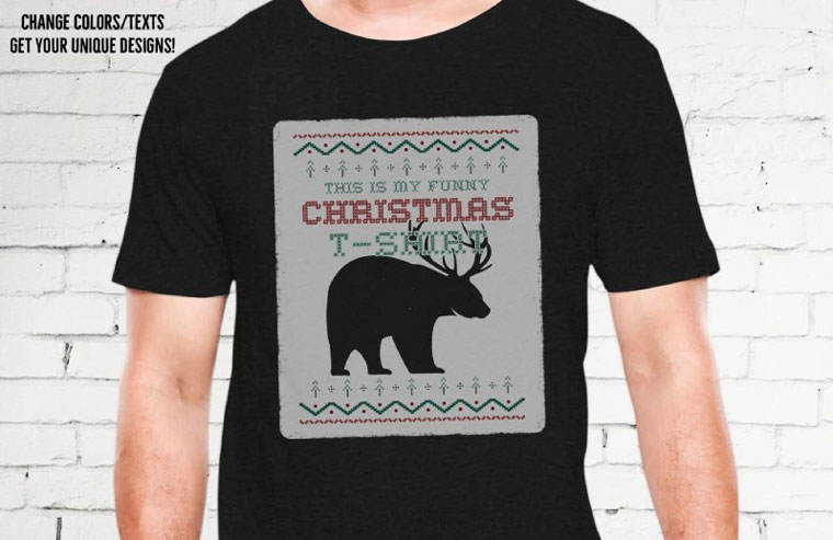 Funny Christmas Ugly Sweater - Beer T-shirt.