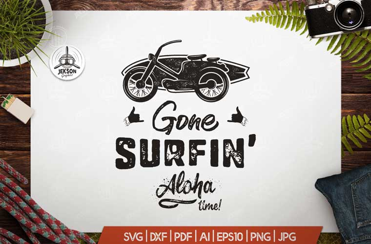 Gone Surfing - Aloha Time T-shirt.