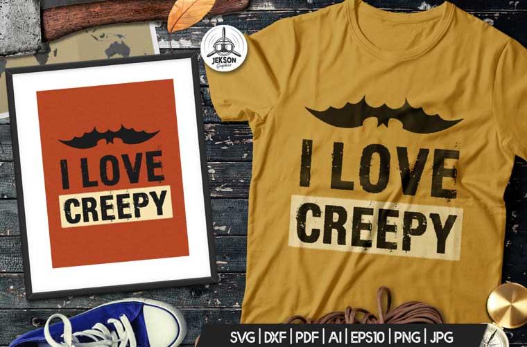 I Love Creepy Halloween T-shirt.