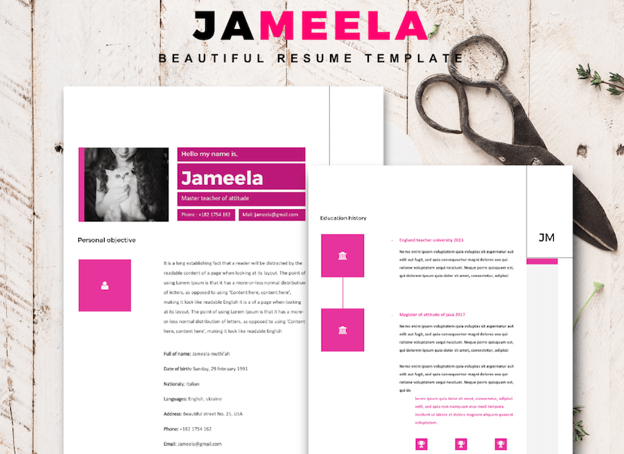 CV template for Word