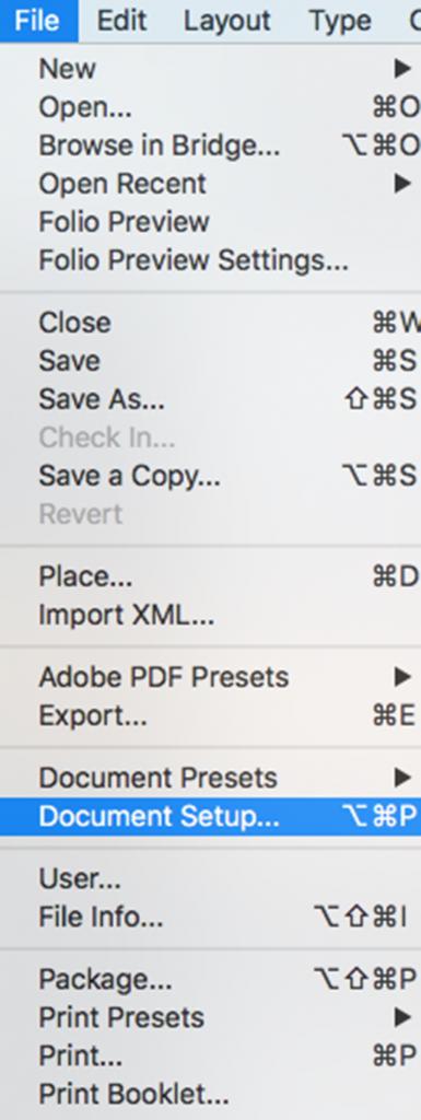 file document setup