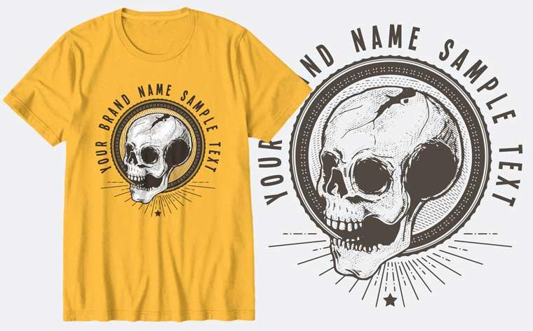 Old Skull T-shirt.