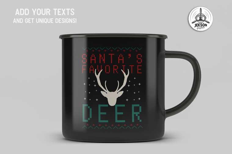 Santa's Favorite Deer T-shirt.