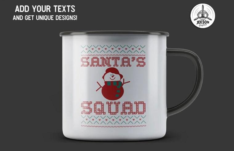 Santa's Squad Christmas T-shirt.