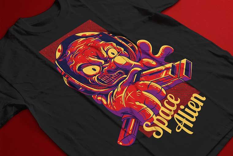 Space Alien T-shirt.