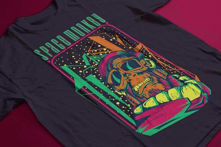 Space Monkey T-shirt.