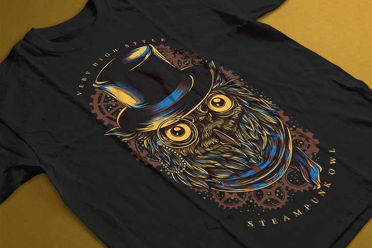 Steampunk Owl T-shirt.