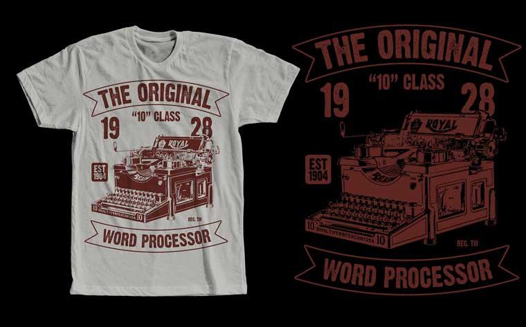 The Original Word Processor Design T-shirt.