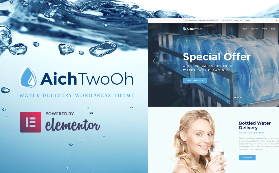AichTwooh Water Delivery WordPress Theme