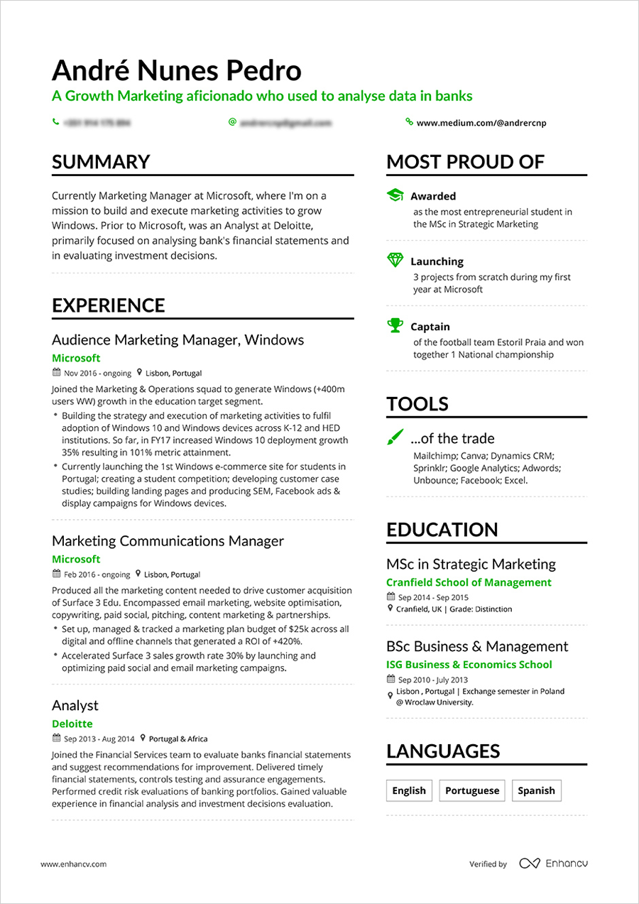 Get Your Dream Job With A Professional Cv Design Tips